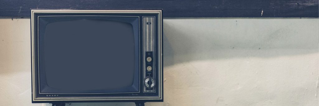 Commercials VS Advert production shown on an old TV set