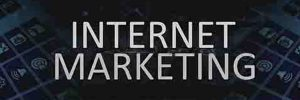 Internet marketing using video online title with web site background