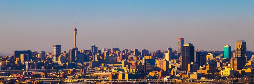Corporate Video production Company Location Johannesburg Banner showing the city of Johannesburg